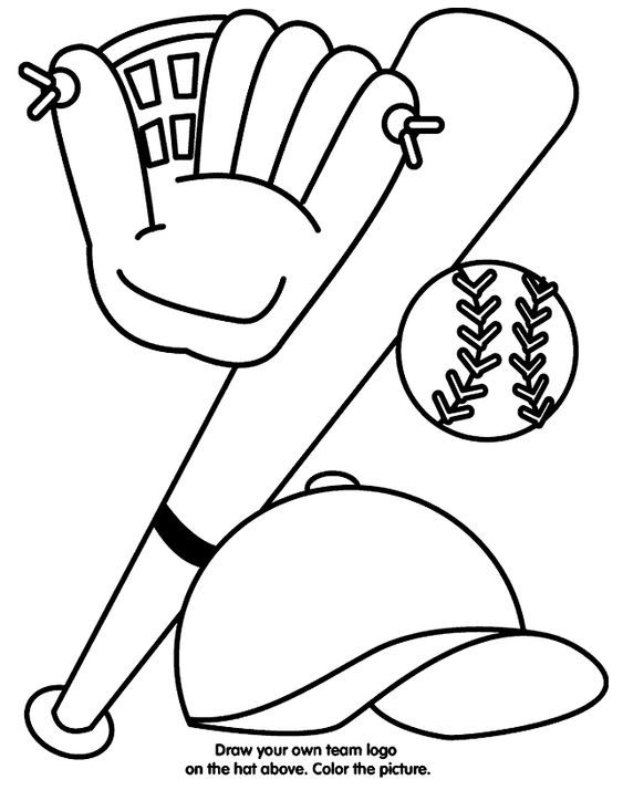 Baseball coloring pages from Crayola! www.jolietslammers.com | VBS ...