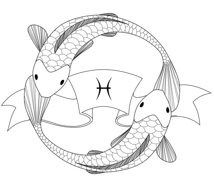 Pisces fish tattoo pisces koi fish drawing g33k pisces for Koi fish pisces