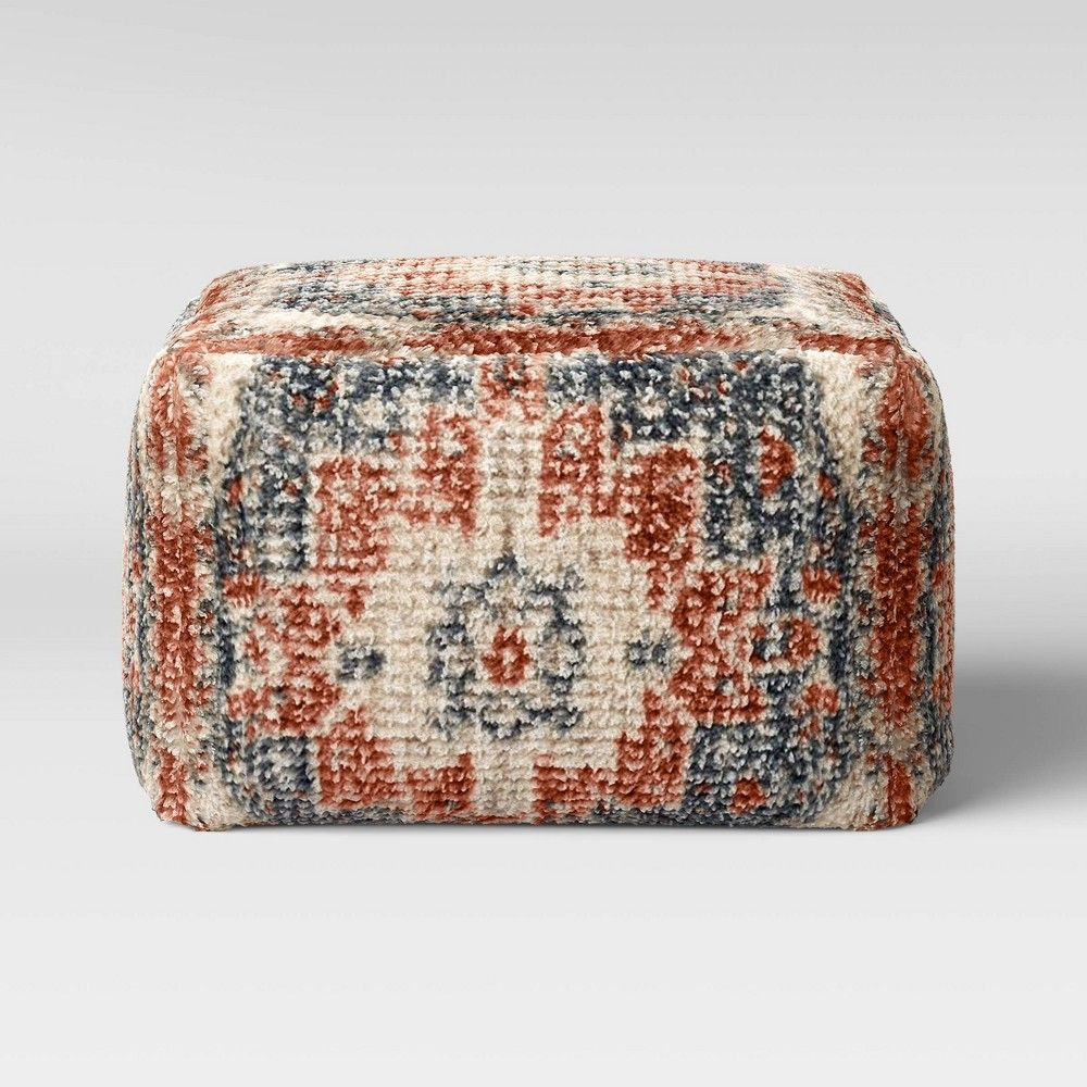 Florence Persian Rug Pouf Red Navy Threshold In 2020 Persian