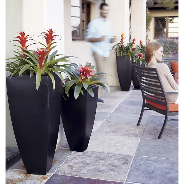 Bronze Tall Tapered Planters In All Mother S Day Gifts Crate And Barrel Tall Planters Outdoor Planters Tall Potted Plants