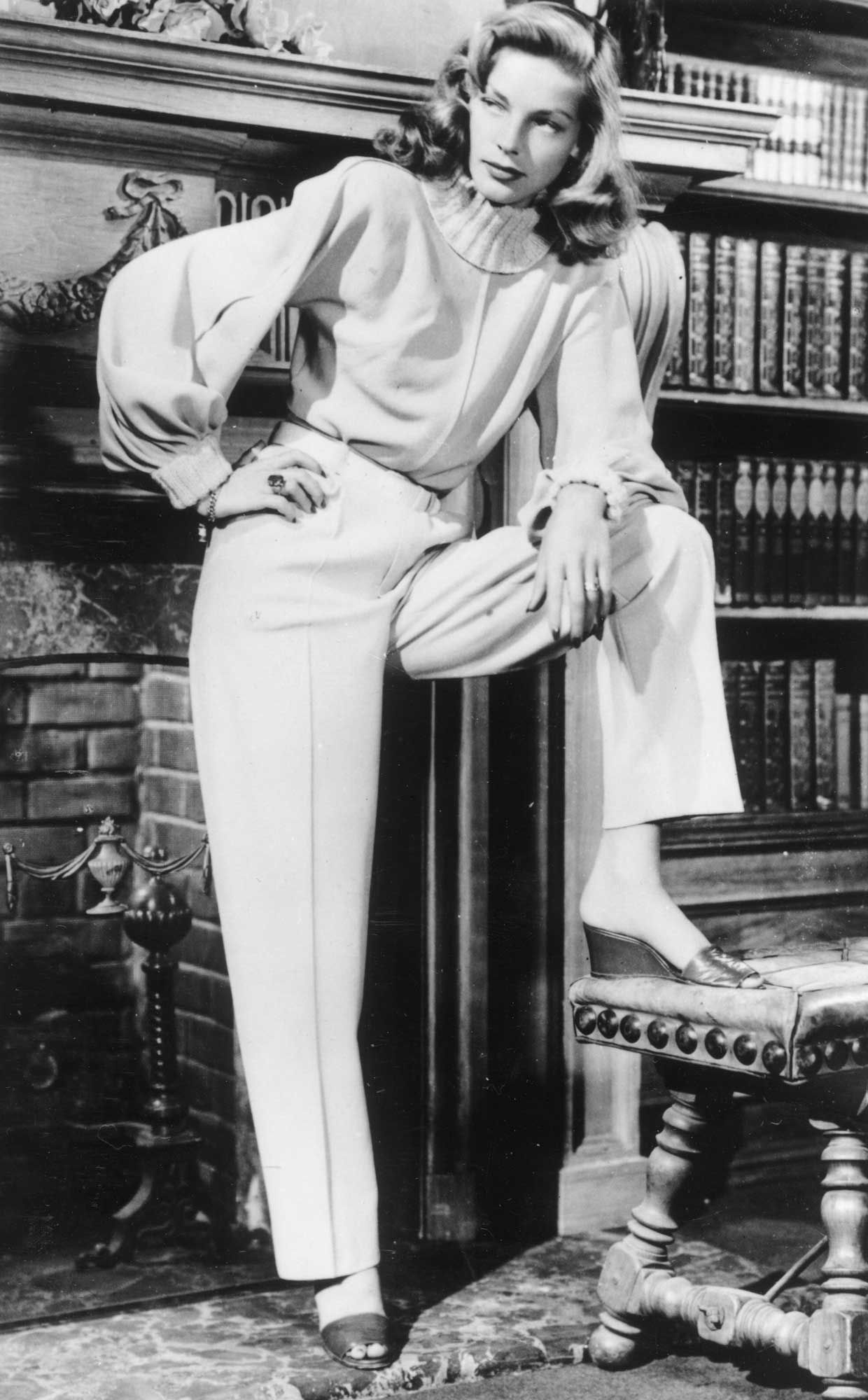 Lauren Bacall Pants 1940 Google Search Old Hollywood Style
