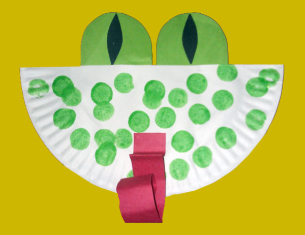 Paper Plate Frog Preschool Art Project