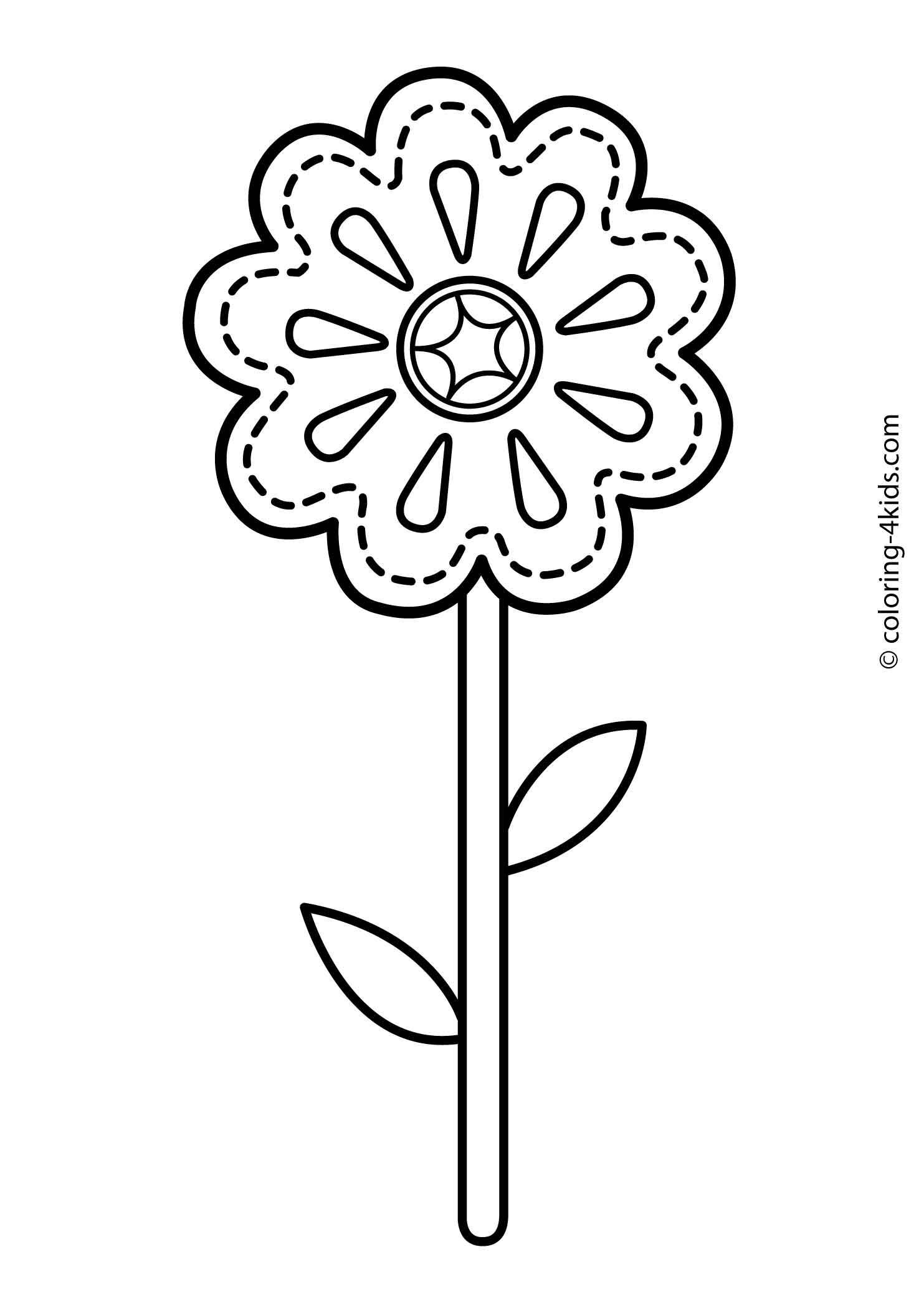 Flower Coloring Pages For Kids Printable 8