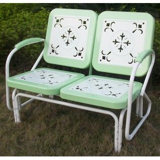 Retro Patio Glider From Sears No Longer Available But Would Love Something Like This My Great Grandpa S Had Furniture