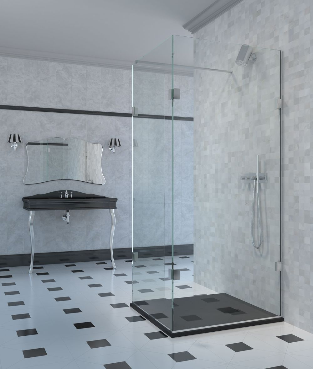 The Shower Lab Curium 19.3F Two Fixed Panels & Return Panel ...