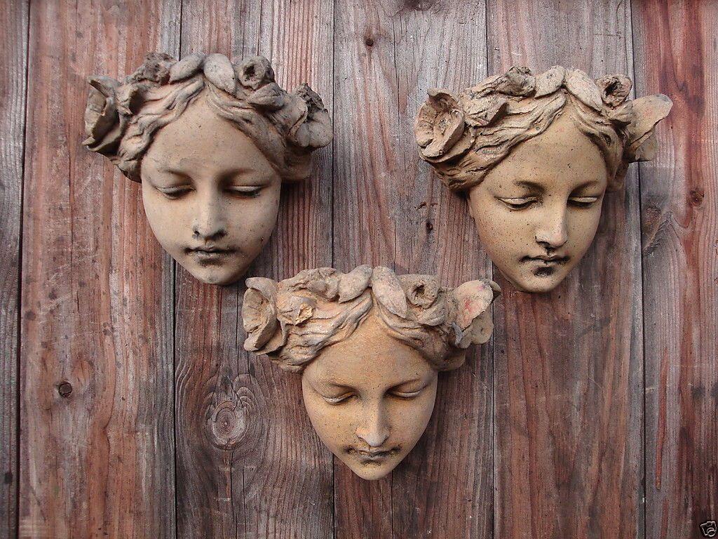 Decorative Wall Plaques art nouveau female face decorative wall plaque price is for one