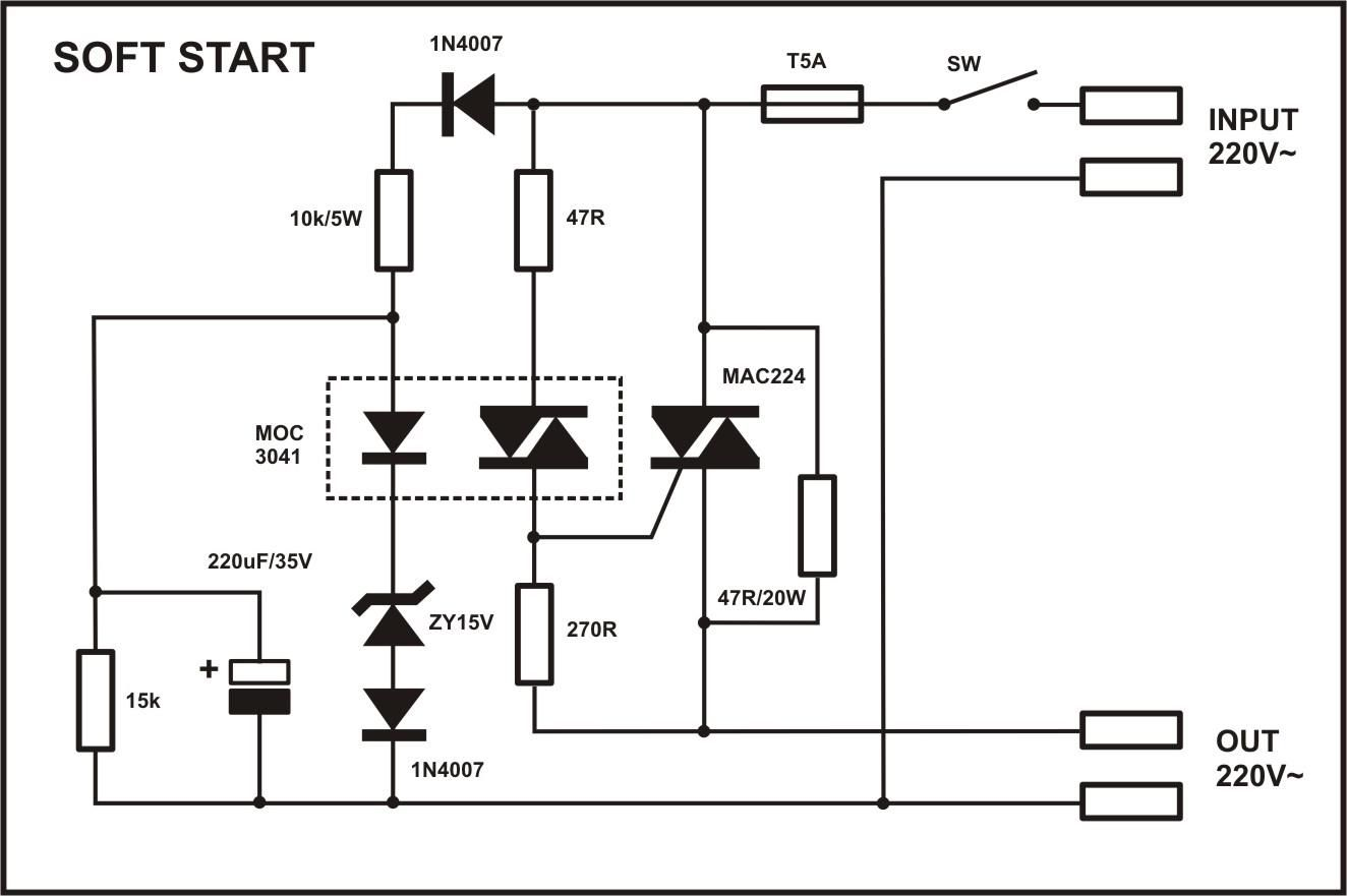 hight resolution of soft start devresi electronics components electronics projects electronics gadgets electrical engineering
