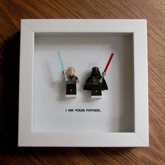 Lego Frame Art Star Wars Wedding Darth By Geeksandnerdsstudio