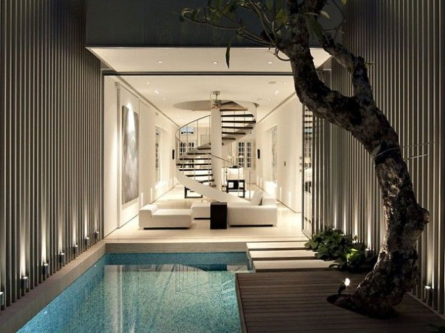 Deco Style singapore deco style home with an exquisite courtyard pool