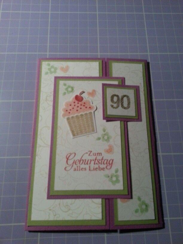Gade Fold Karte zum 90.ten Geburtstag...