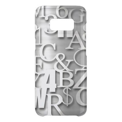 Silver Metallic Letters Numbers  Symbols Uncommon Samsung Galaxy