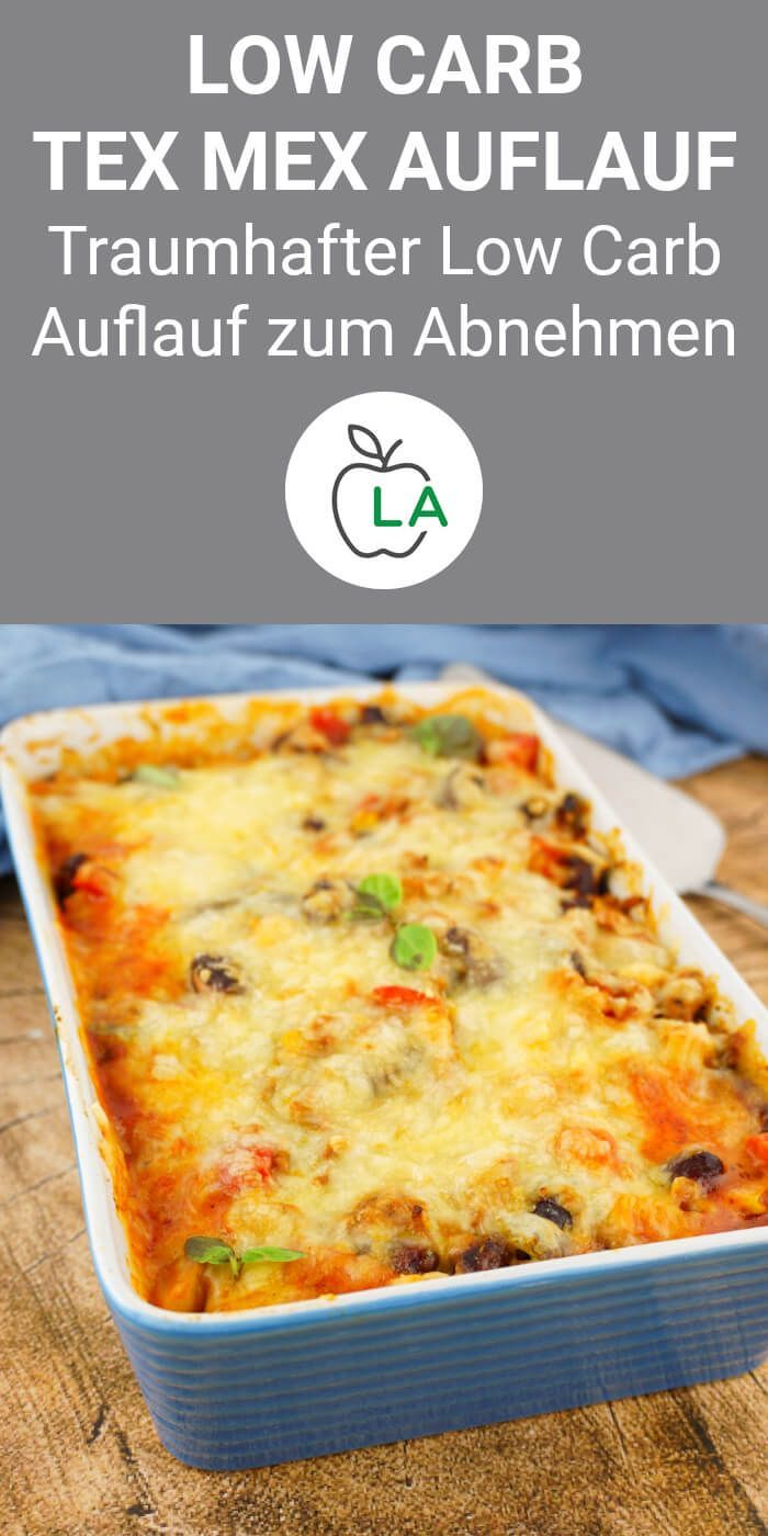 Low Carb Auflauf im Tex Mex Style – Leckeres Abendessen zum Abnehmen (Lecker Abnehmen - Low Carb Rezepte) - Joel&GesundeRezepte