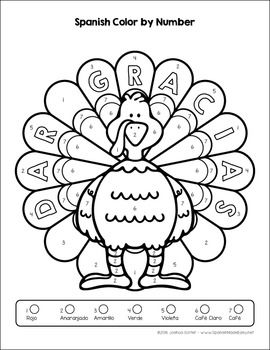 Thanksgiving Turkey Coloring Sheets English And Spanish Dia De