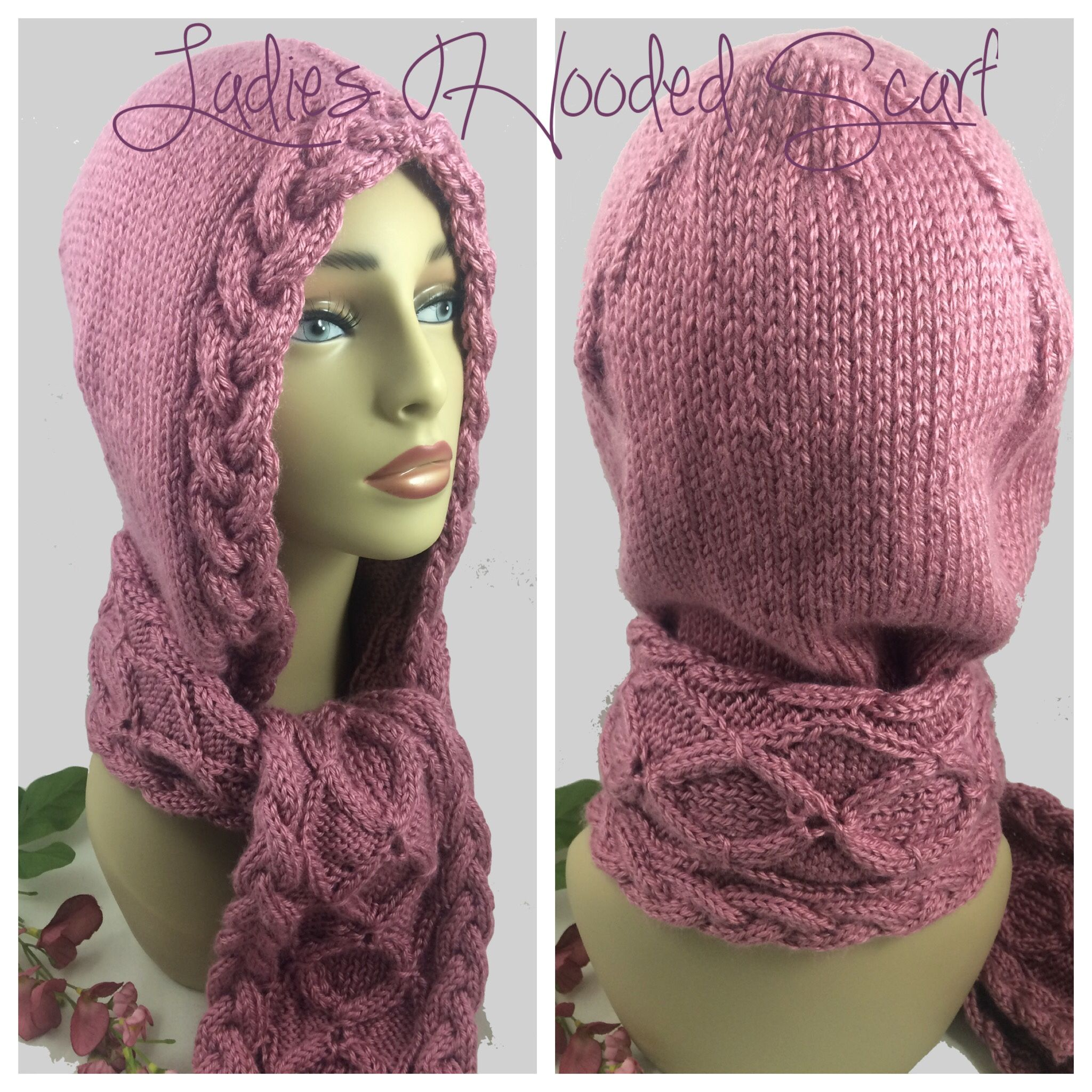 Bmecountdown pink hooded scarf irish celtic cables rose caron bmecountdown pink hooded scarf irish celtic cables rose caron simply soft yarn bankloansurffo Image collections