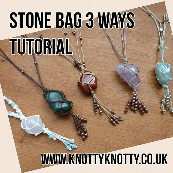 Photo of TUTORIAL Macrame Stone Bag / Macrame Net Bag Tutorial / Knot Knot Macrame #B …