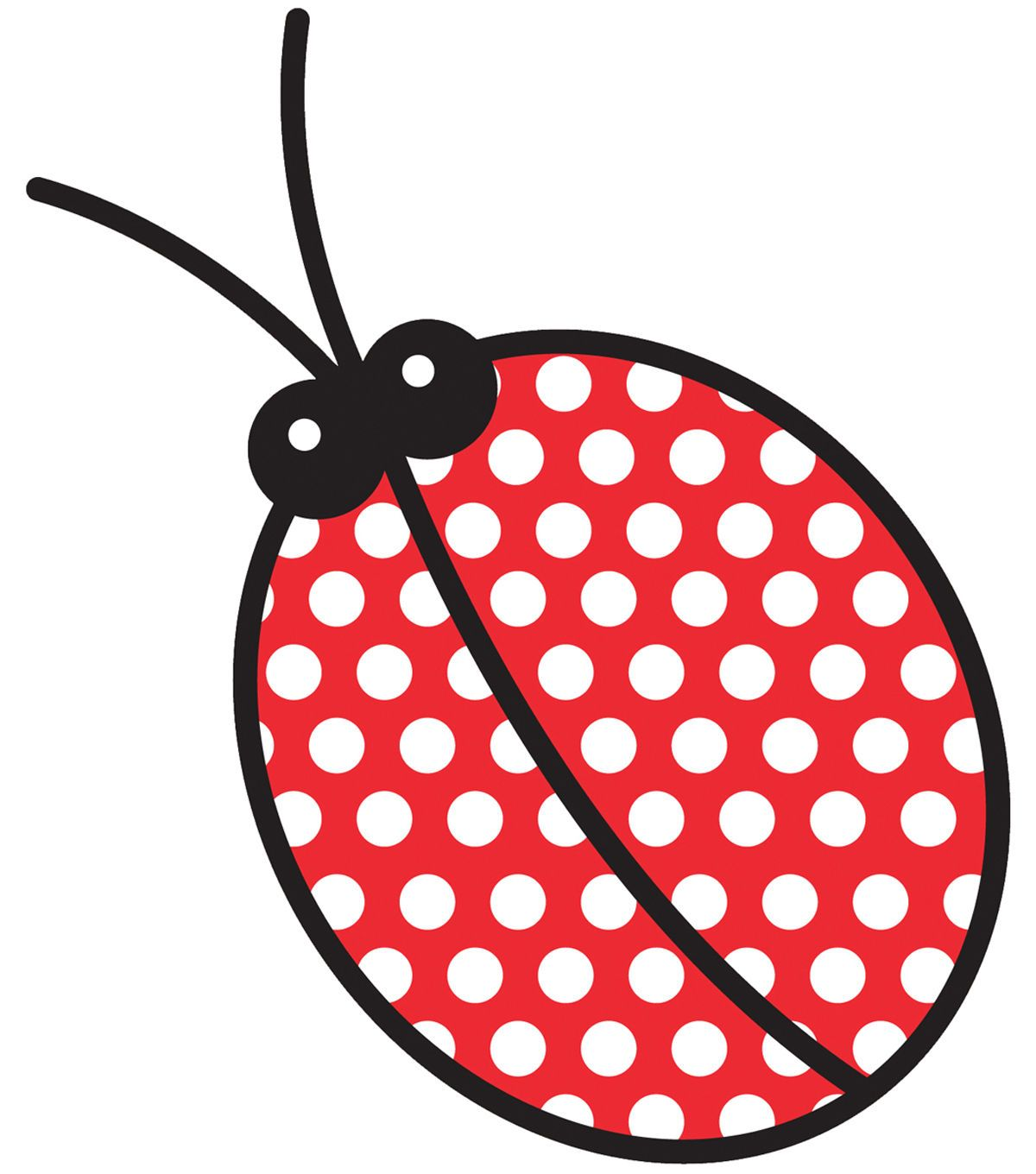 """Wrights Especially Baby Iron-On Appliques-Lady Bug 3""""X5-5/8"""" 1/Pkg"""