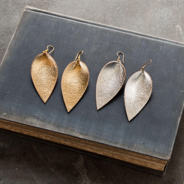 Metallic Leather Earrings - Magnolia Market | Chip ...