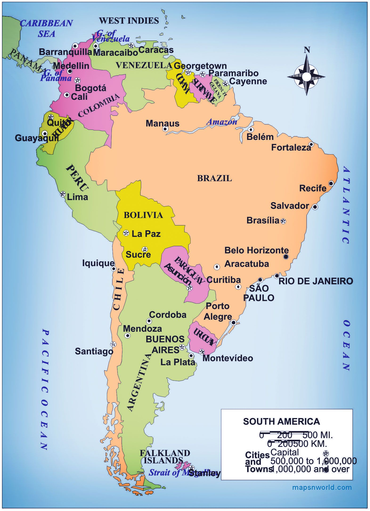 America Map Hd.Map Of South America Free Large Images Backpacking Pinterest