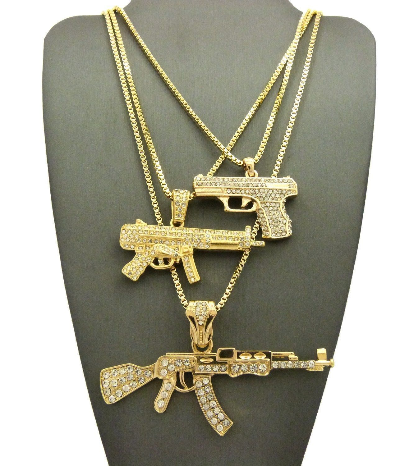 Chains necklaces and pendants 137839 mens machine gun ak47 chopper chains necklaces and pendants 137839 mens machine gun ak47 chopper uzi weapon gunpendant box chain 3 necklace set buy it now only 3499 on ebay mozeypictures Choice Image