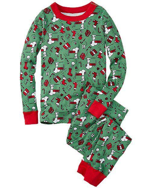 peanuts long john pajamas in organic cotton from hannaandersson