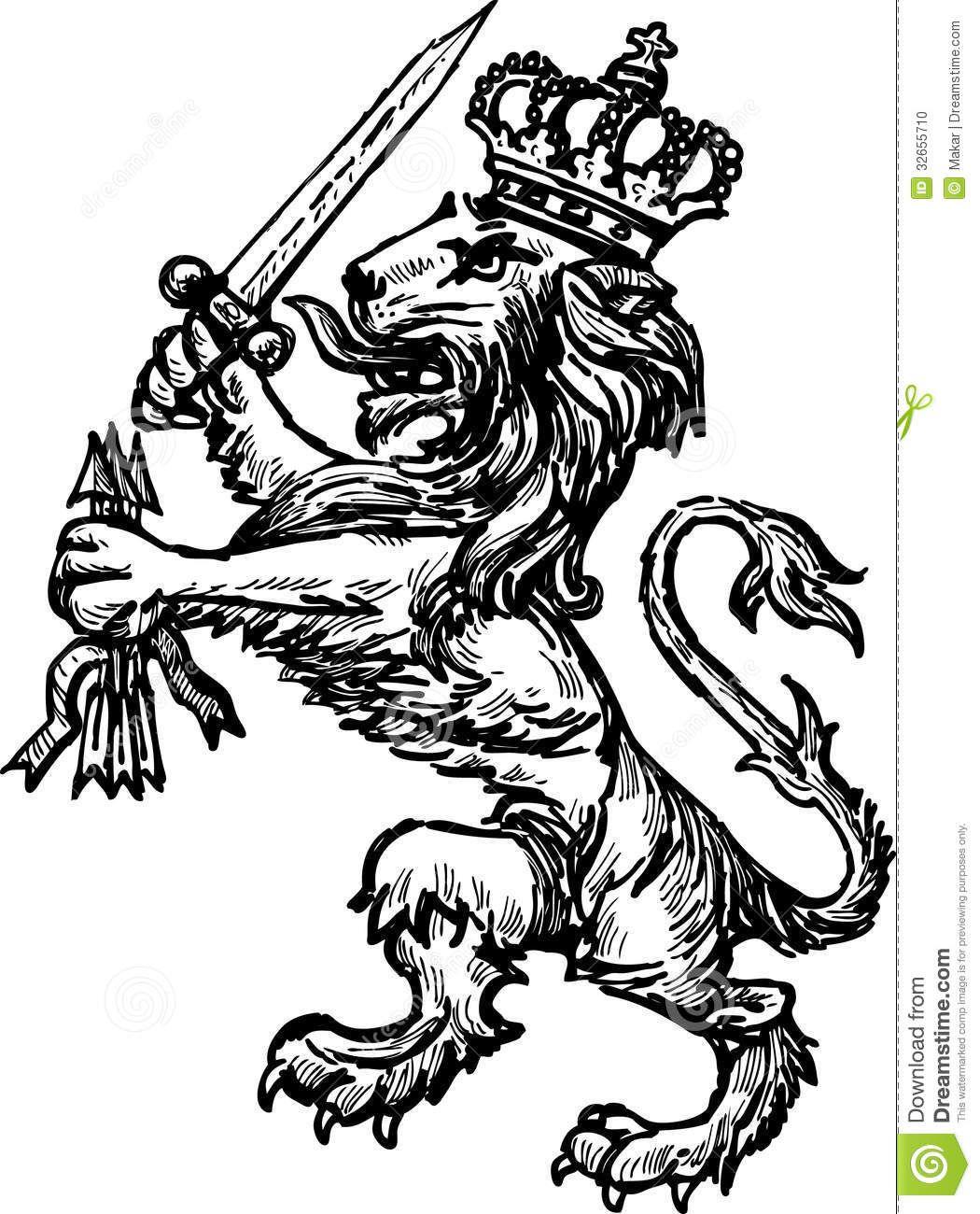 heraldic lion Google Search Tattoo Pinterest Lions