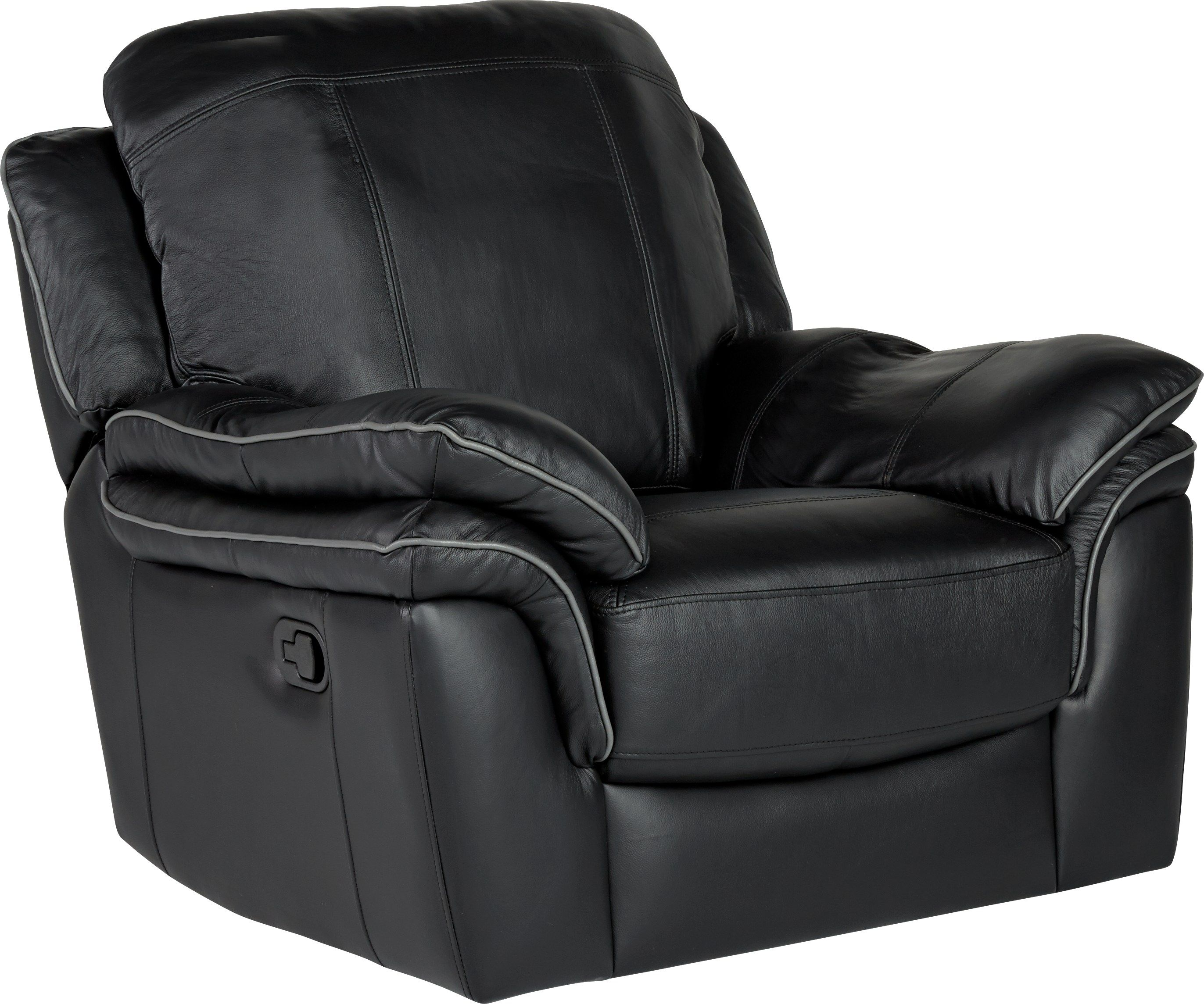Cindy Crawford Brand Accent Chair: Cindy Crawford Home Grand Palazzo Black Leather Rocker