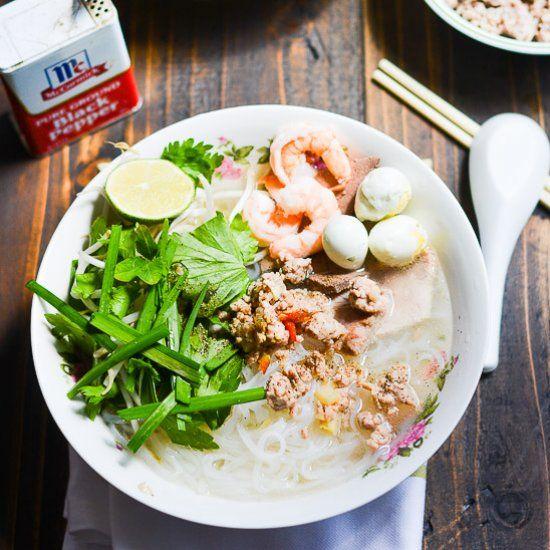 Vietnamese Phnom Penh Noodle Soup