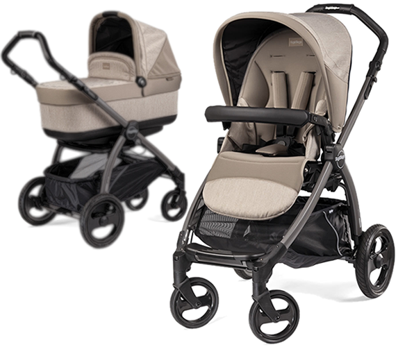 Peg Perego Book Pop Up Stroller in Creme (With images