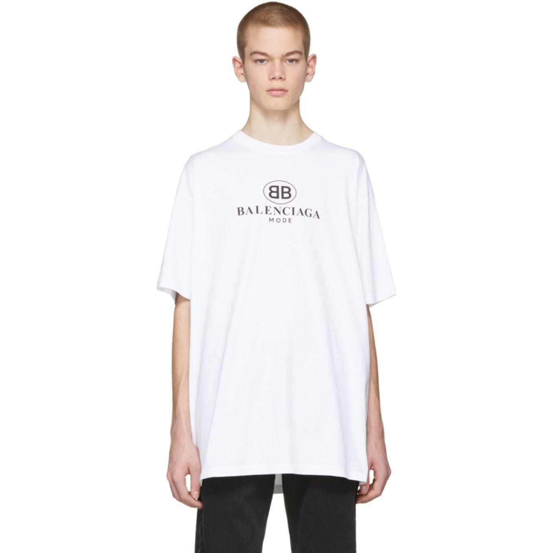 Balenciaga - White 'BB Mode' T-Shirt