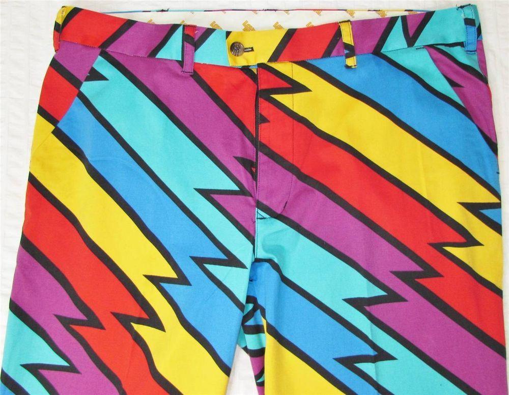 51e828cb1a Details about Men Loudmouth Golf Pants Captain Thunderbolt sz 40 X ...
