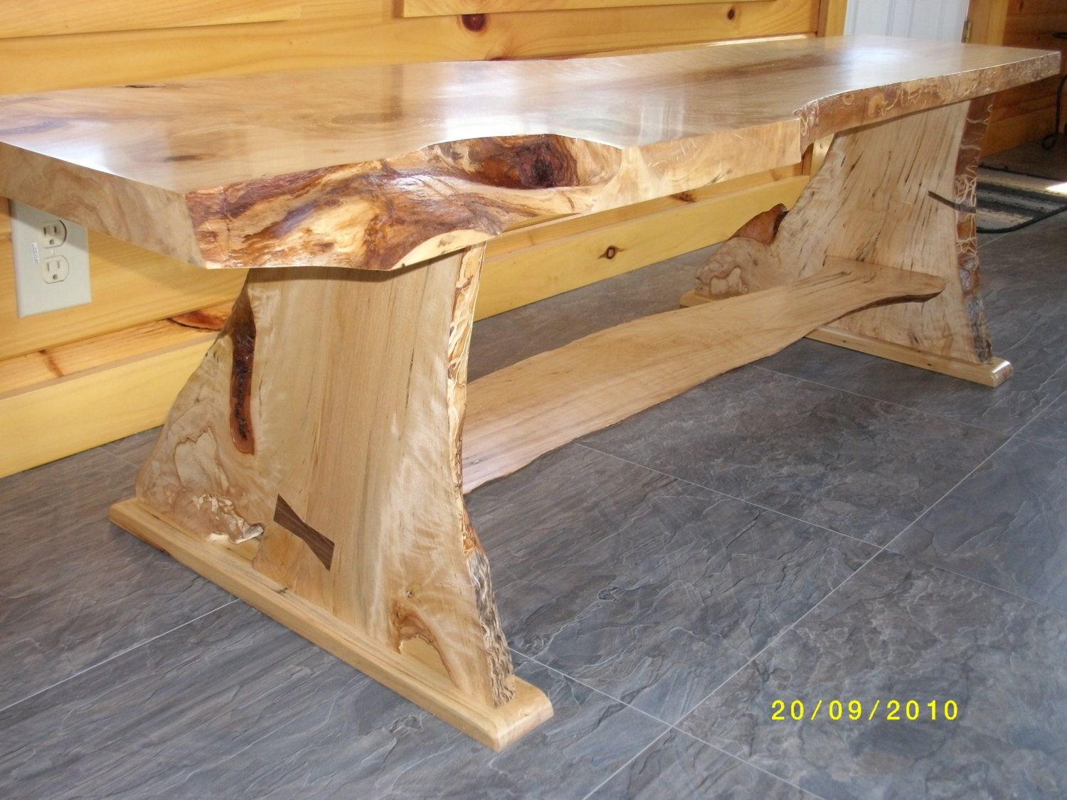 hand made live edge birch coffee table thing i would like to make pinterest live edge. Black Bedroom Furniture Sets. Home Design Ideas