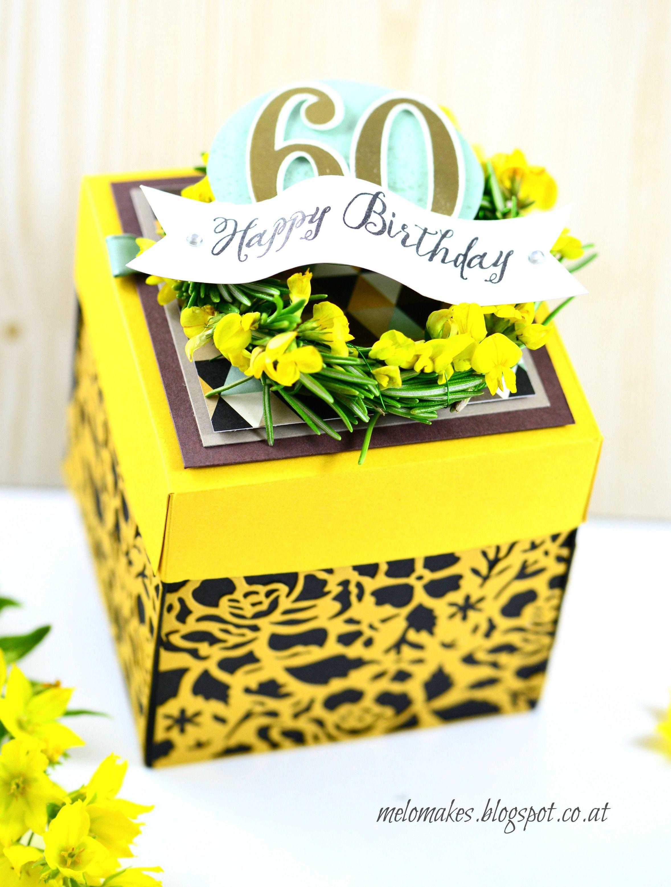 Sommerliche Geschenkverpackung Blumen Basteln Papier Stempel Stampin Up Verpackung