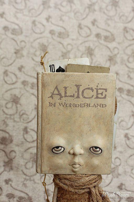 """Коллекционные куклы ручной работы. Ярмарка Мастеров - ручная работа Книга """"Алиса В Стране Чудес"""". Handmade."""