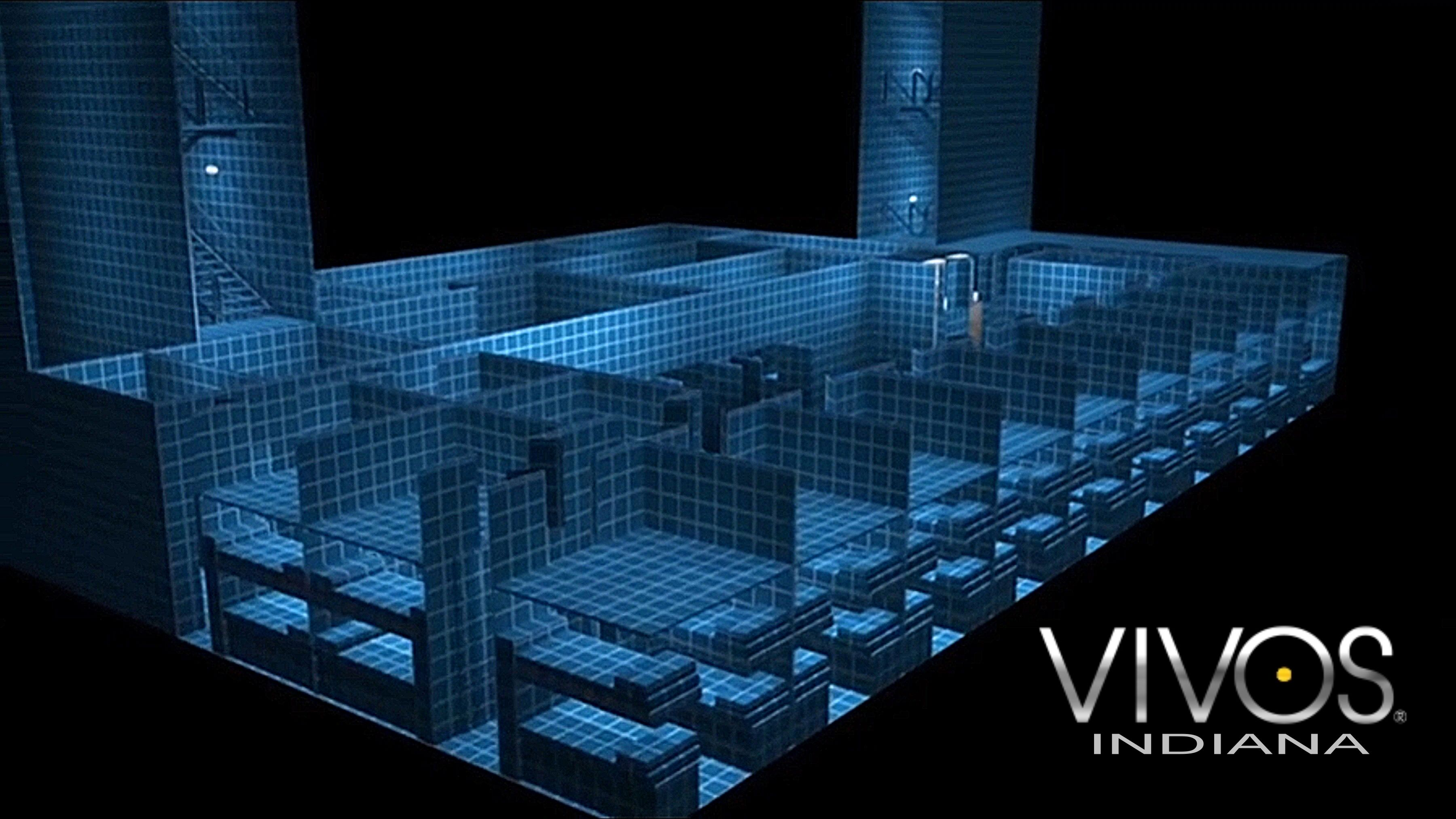 3D rendering of the Vivos Indiana underground nuclear blast proof