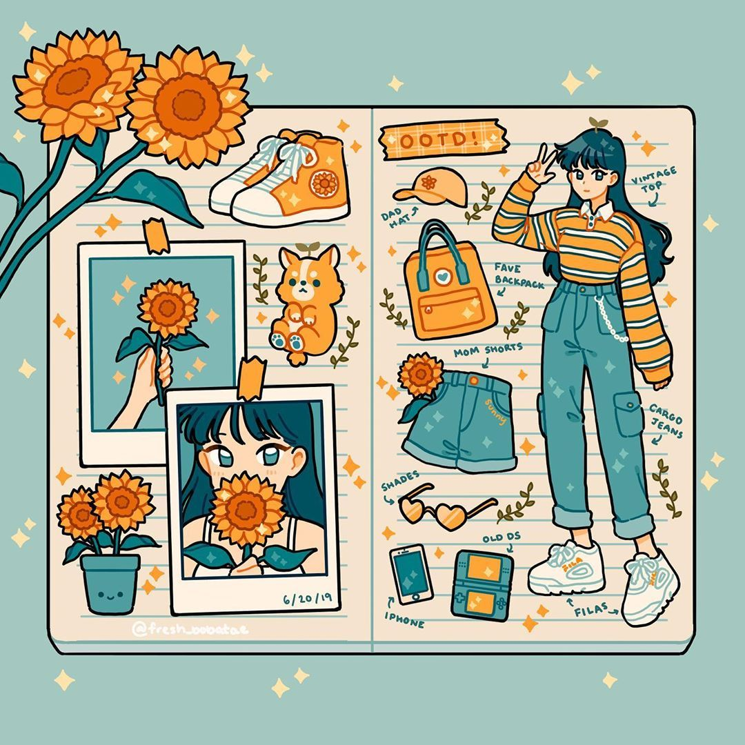 """~𝑒𝓂𝒾𝓁𝓎 𝓀𝒾𝓂~ on Instagram: """"Bullet journal ootd 😙 as usual, decorate the comments with sunflowers! 🌻🌻🌻"""""""