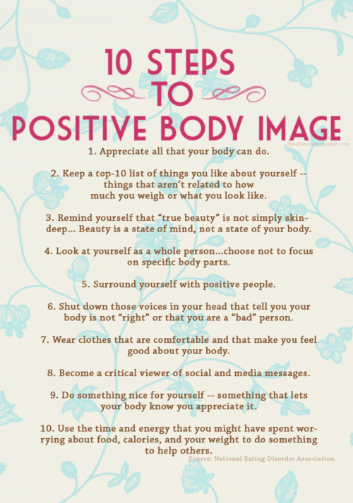 Take Note, Ladies 10 Steps to a Positive Body Image