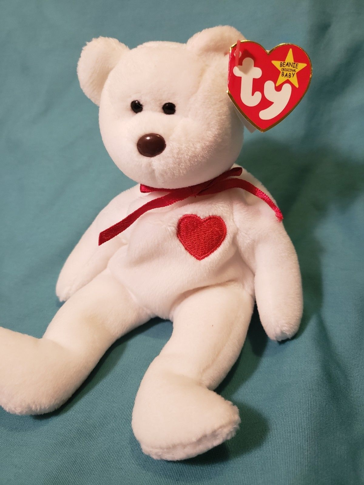 5dfd89a55d9 Extremely Rare! VALENTINO 1993 TY INC Beanie Baby with Swing Tag Errors PVC
