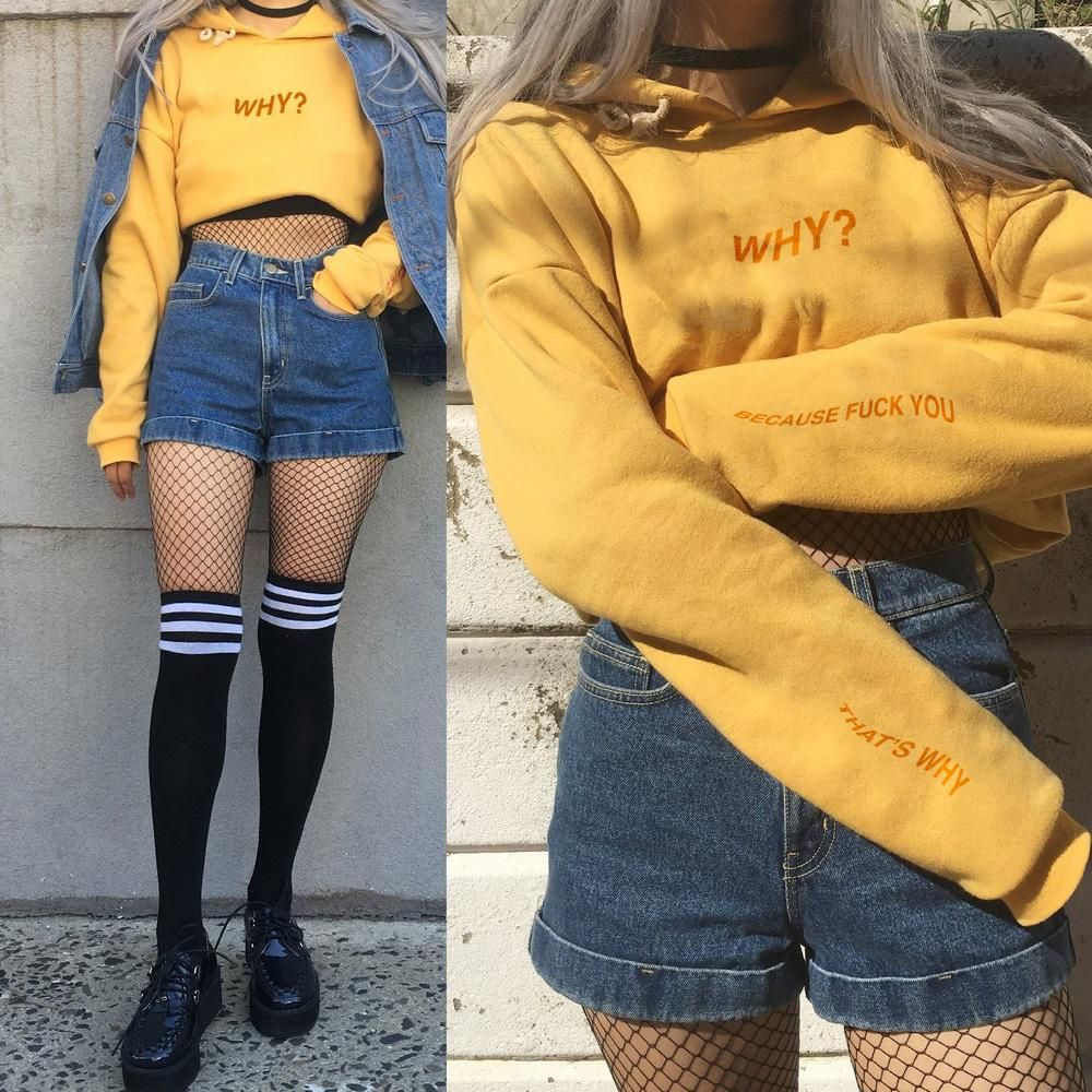 Limited Item 90s Vintage Grunge Why Outfit Set