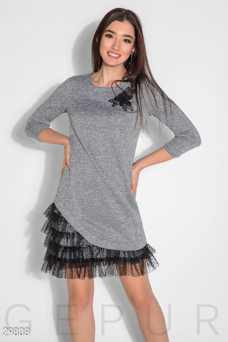6c6b1ebd8c2f09d Асимметричное платье с декором - купить оптом и в розницу в Украине и  России | GEPUR