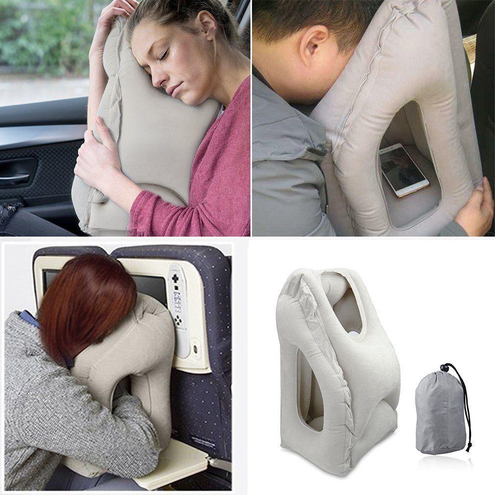 airplane pillow kohbi home car neck travel dp kitchen amazon foam ultimate memory bliss com