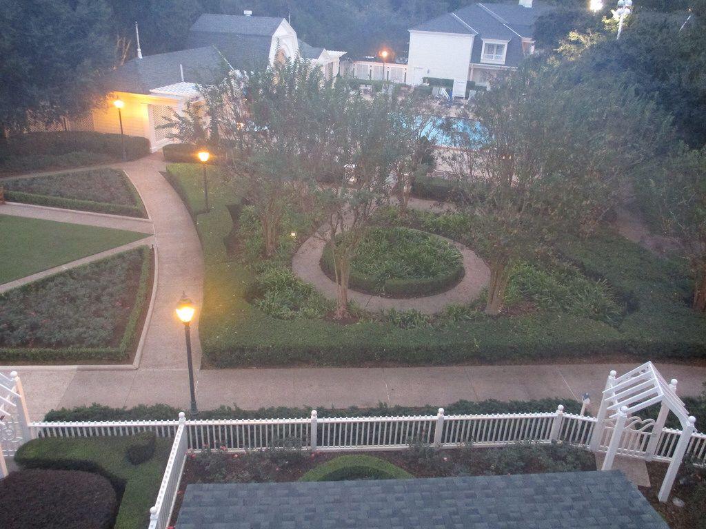 Boardwalk garden view