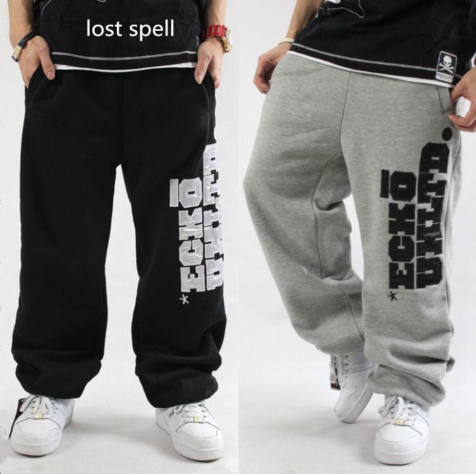 ad57b5b2d6 2018 Mens Hip Hop Sweatpants Loose Jogger Dance Skateboard Baggy Trousers  Men Parkour Fleece Pantalon Homme