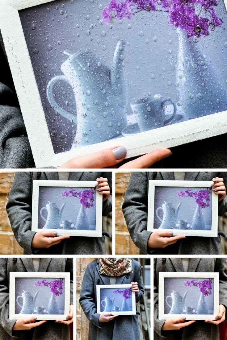 Teaset #print #decoupage #flowerart #raindrop #homedecor #3D wall ...