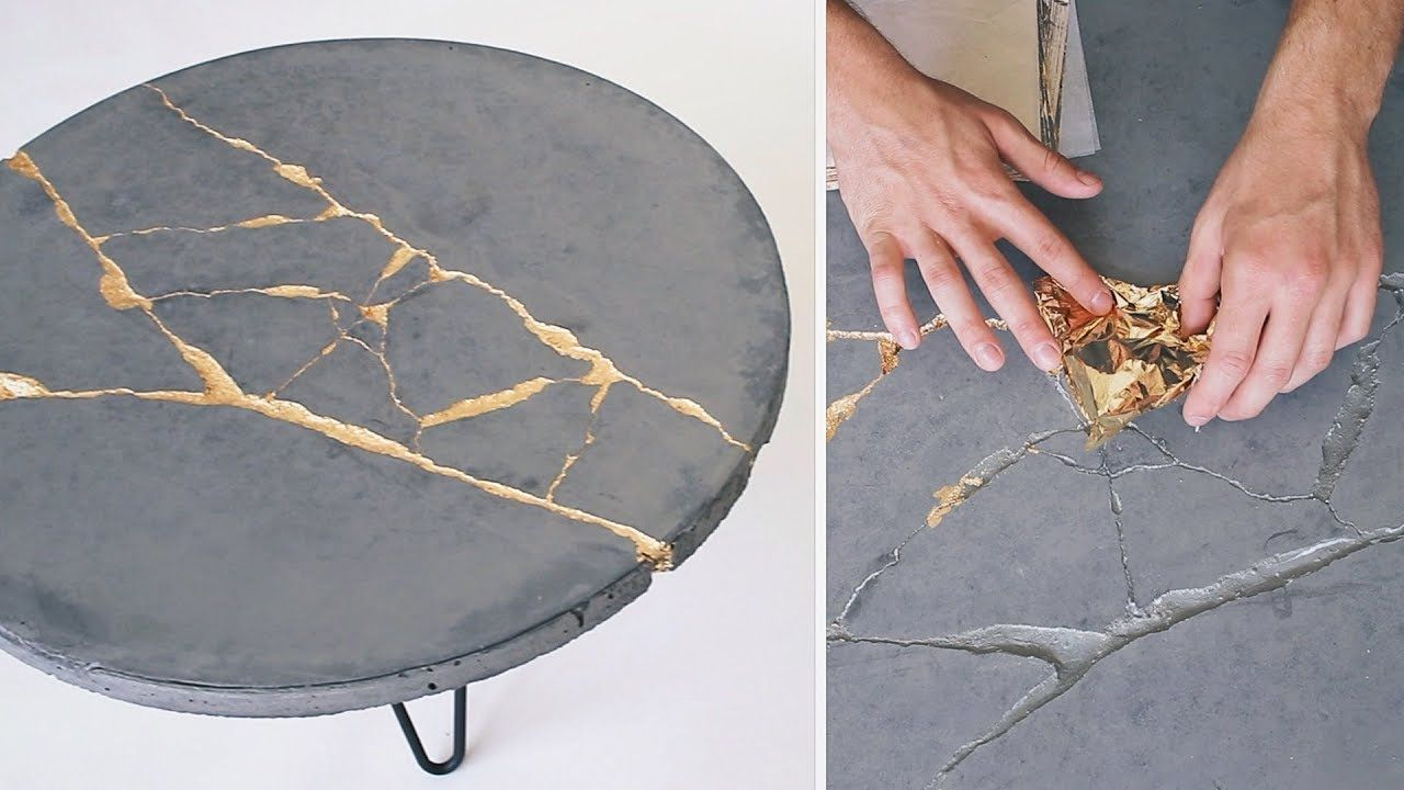 Outstanding Diy Kintsugi How To Build A Round Concrete Coffee Table Pabps2019 Chair Design Images Pabps2019Com