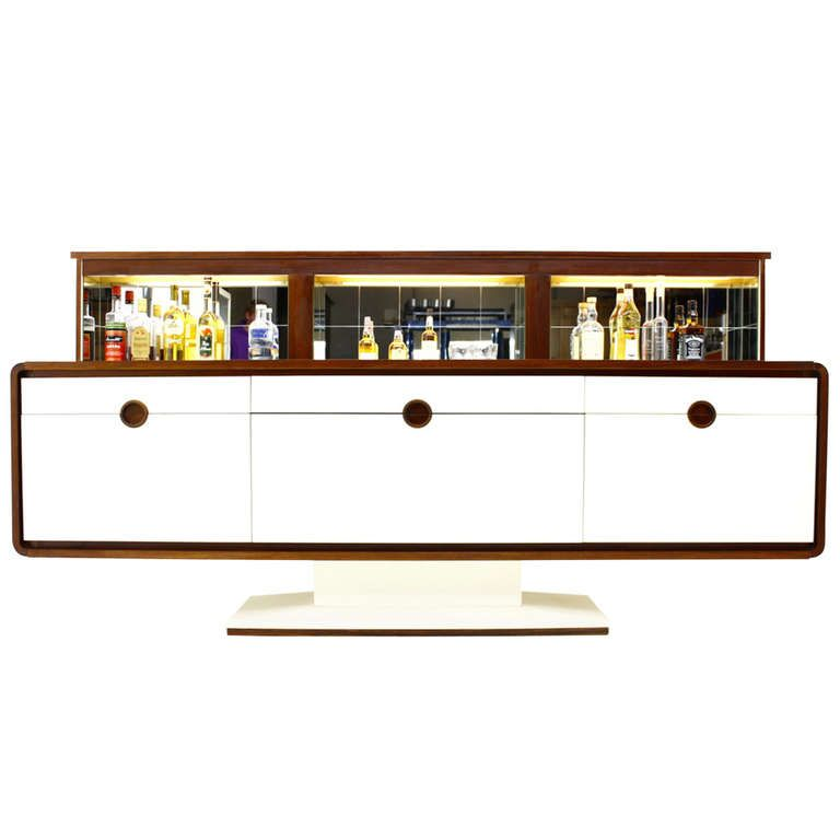 A rare Rosewood Sideboard with Electric Bar like 007 | From a unique  collection of antique - A Rare Rosewood Sideboard With Electric Bar Like 007 Dry Bars