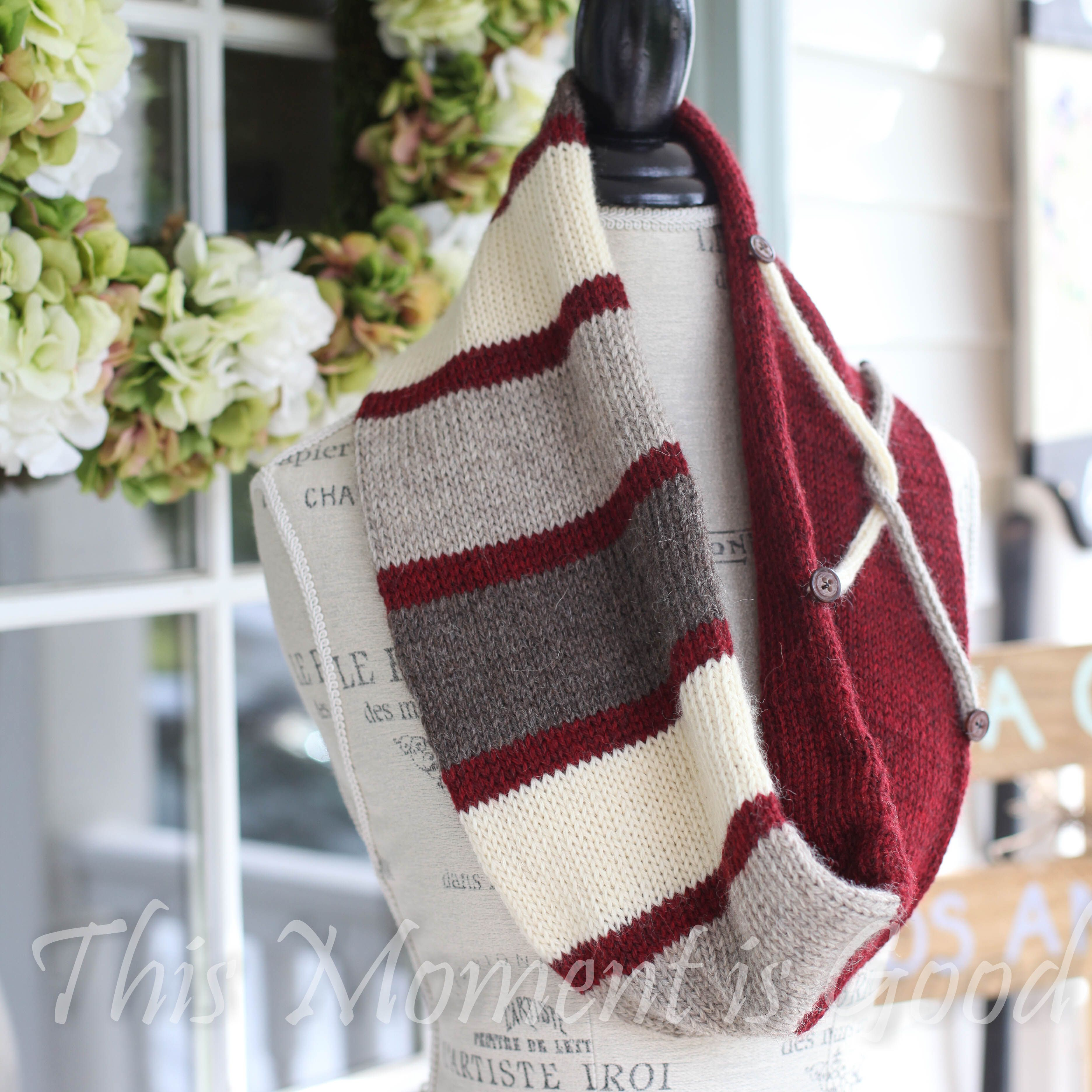 Loom Knit Infinity Scarf Pattern, Tube Scarf, Infinity Cowl, With ...