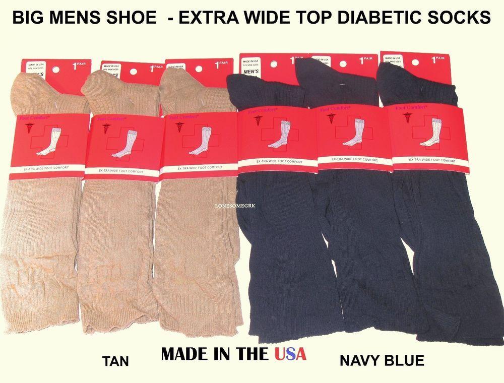 Big foot diabetic socks extra wide comfort 11-14