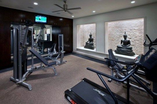 Personal home gym design ideas for men personal home