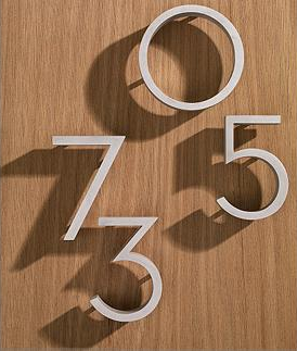 Door Numbers With Images Modern House Number House Numbers
