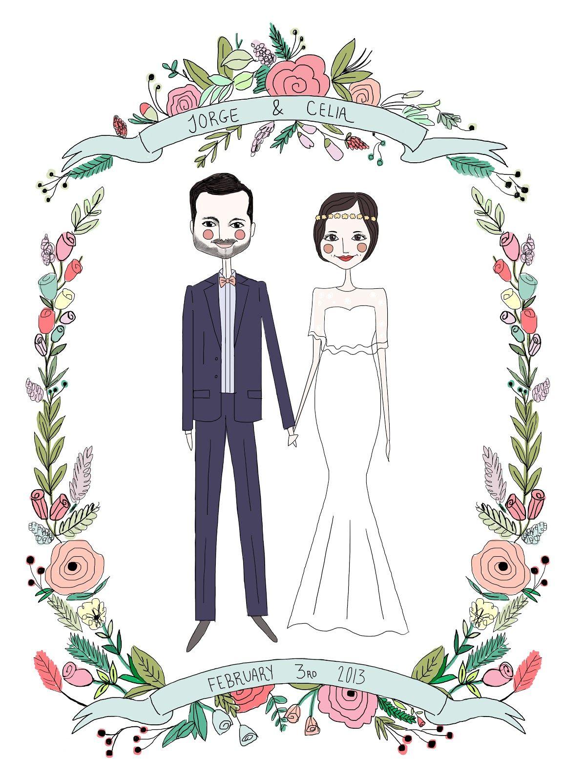 wedding invitation illustration   Fashion   Pinterest   Illustrators ...